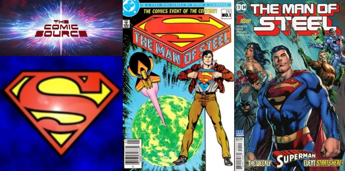 The Comic Source Podcast Episode 448 – Superman Sunday: Man of Steel – Bendis vs Byrne