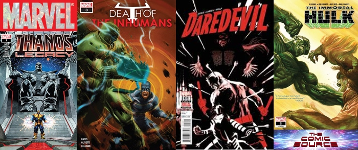 The Comic Source Podcast Episode 496 – Marvel Monday: Death of the Inhumans #3, Thanos Legacy #1, Immortal Hulk #5 & Daredevil #2
