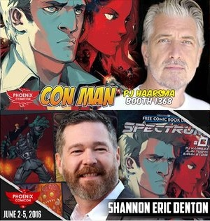 The Comic Source Podcast Episode 112 Phoenix Comicon Interview PJ Haarsma, Shannon Eric Denton